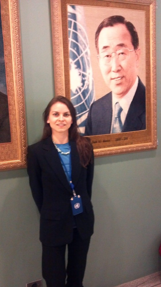 Board Secretary Jessica Buchleitner at UN main building